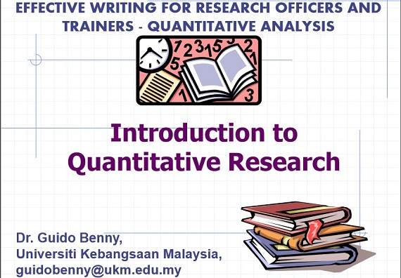 "Workshop on ""Effective Writing for Research Officers and Trainers     – Quantitative Analysis"""