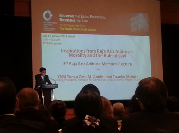 Address by YAM Tunku Zain Al-'Abidin Ibni Tuanku Muhriz at the 3rd Raja Aziz Addruse Memorial Lecture