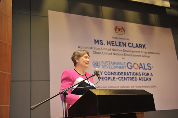 Public Lecture by Ms. Helen Clark : Sustainable Development Goals: Key Considerations for a People-Centred ASEAN