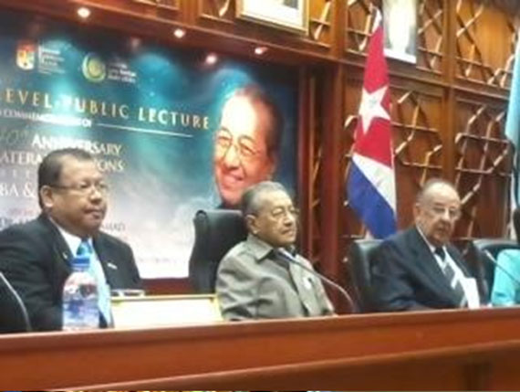 Special Address on 'Reflections on Malaysia-Cuba Relations' by Tun Dr. Mahathir Mohamad
